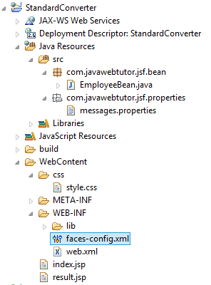 JSF Standard Converter Example in Eclipse
