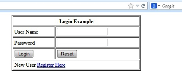 JSP Login Example
