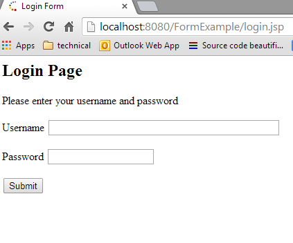 Passing Parameter Using Html Form