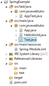 Spring Application in Eclipse